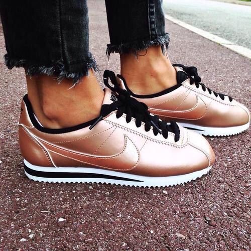 rose gold nike trainers